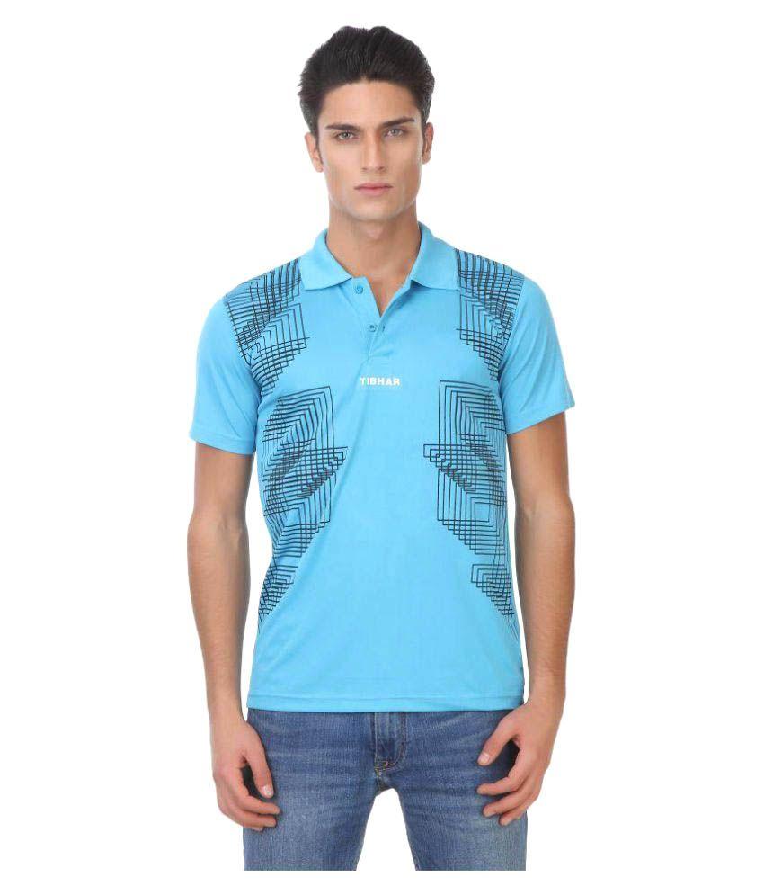 Tibhar Blue Polyester Polo T-shirt