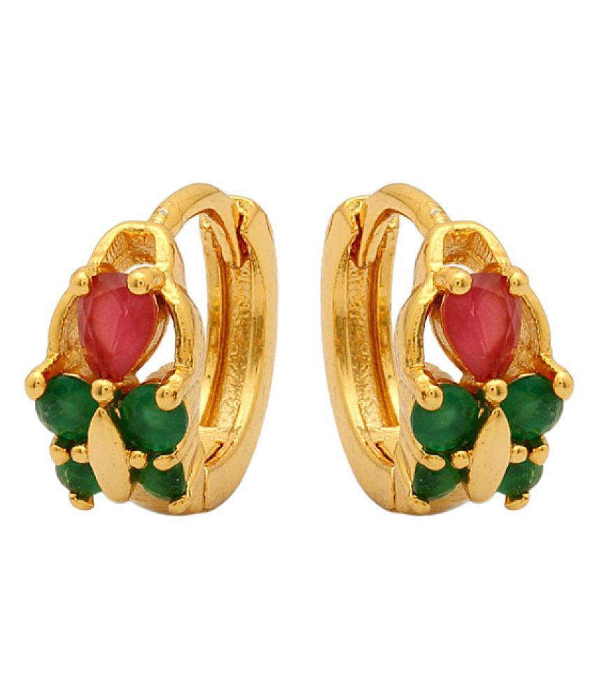 Voylla Multicolor Huggies Earrings