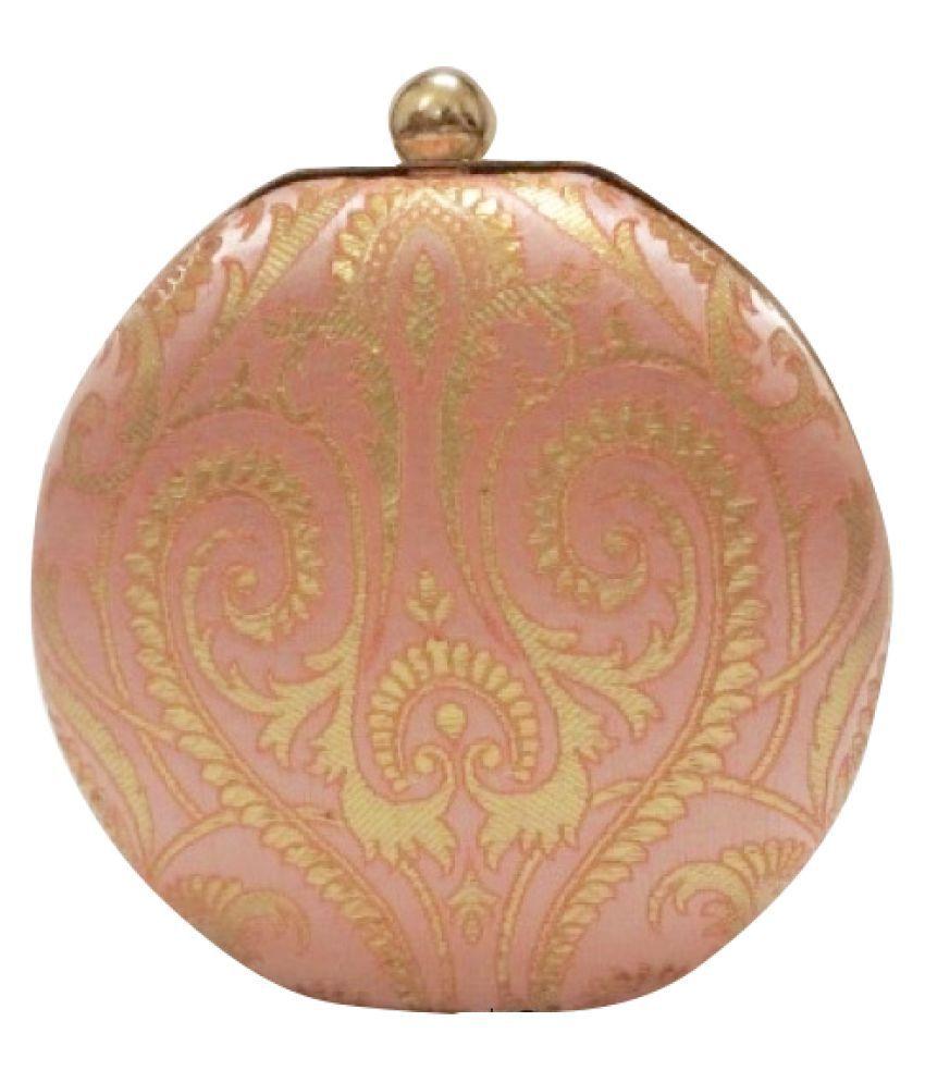 Dew's Collection PeachPuff Silk Box Clutch