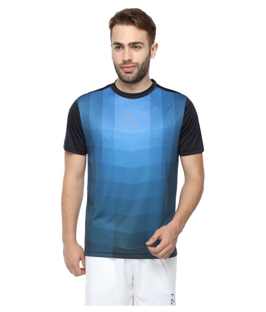 Piranha Sportswear Blue Polyester T-Shirt
