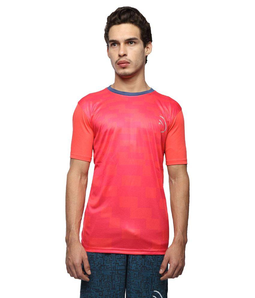 Piranha Sportswear Pink Polyester T-Shirt
