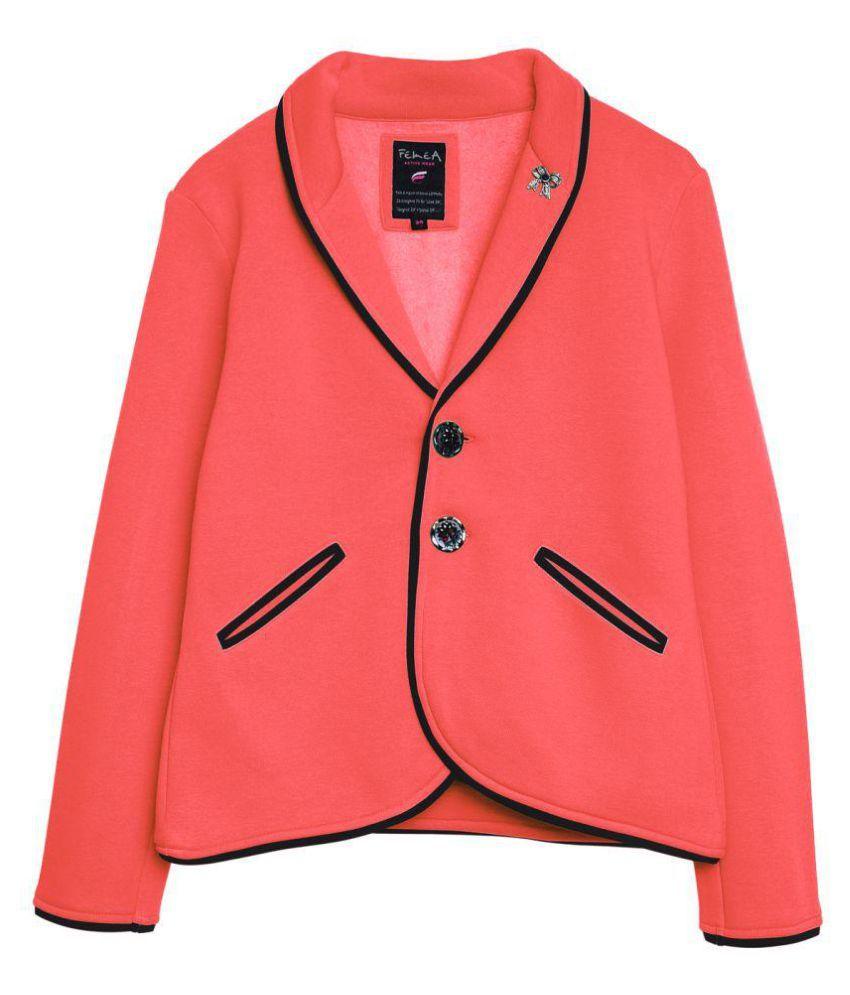 Femea Peach Winter Coat