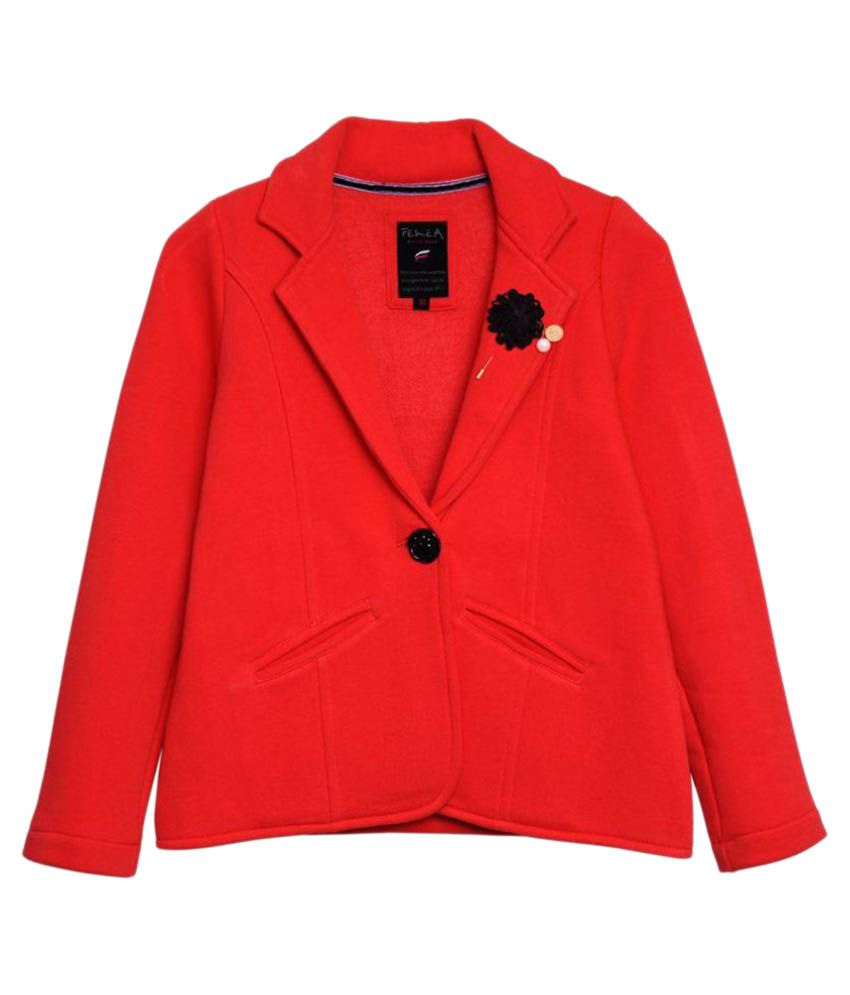 Femea Red Winter Coat