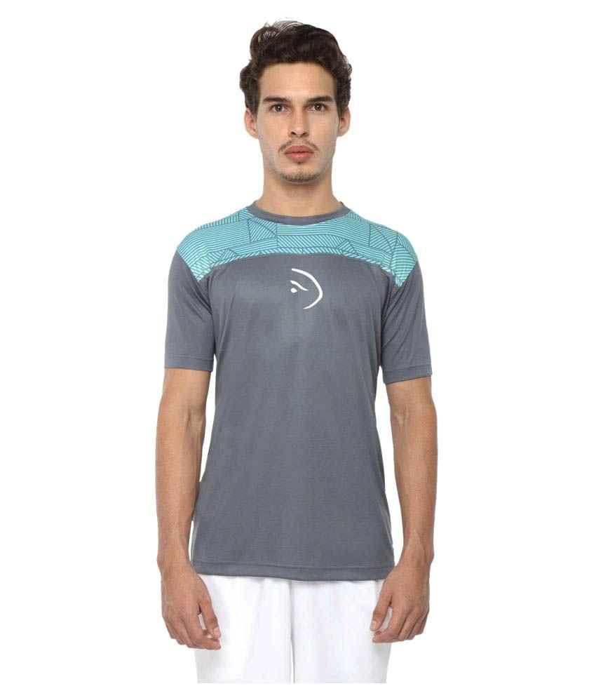 Piranha Sportswear Grey Polyester T-Shirt