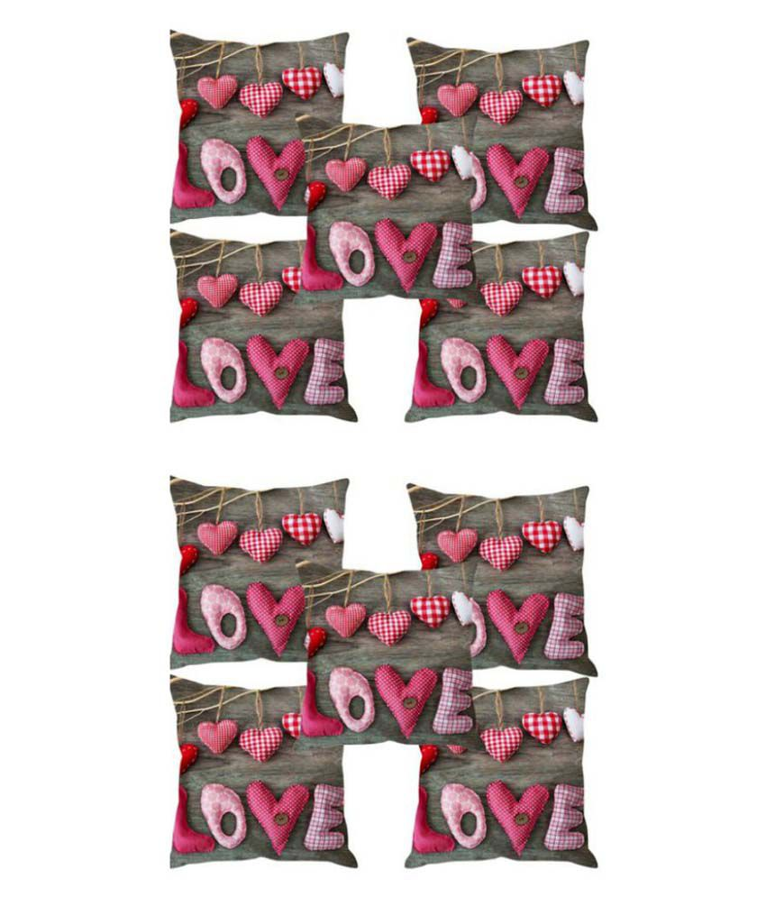 Adorro Set of 10 Polyester Cushion Covers