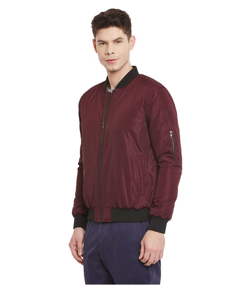 Yepme Maroon Quilted & Bomber Jacket - Buy Yepme Maroon Quilted ...