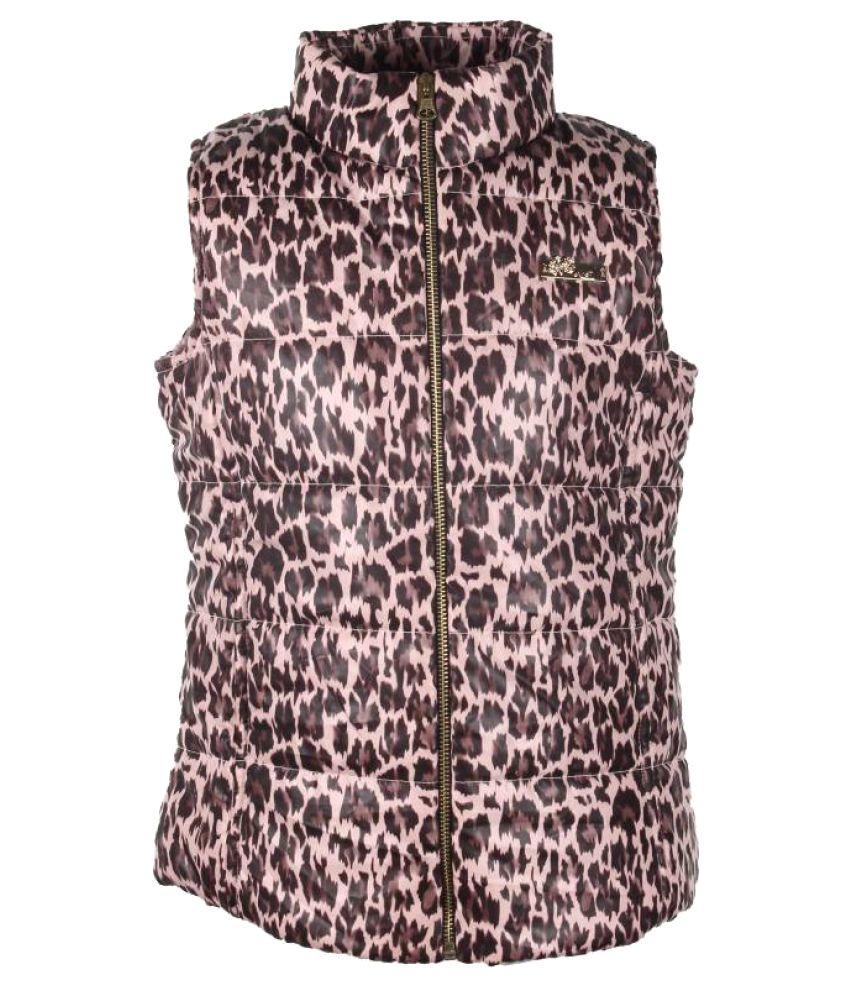 Cutecumber Sleeveless Animal Print Girls Jacket