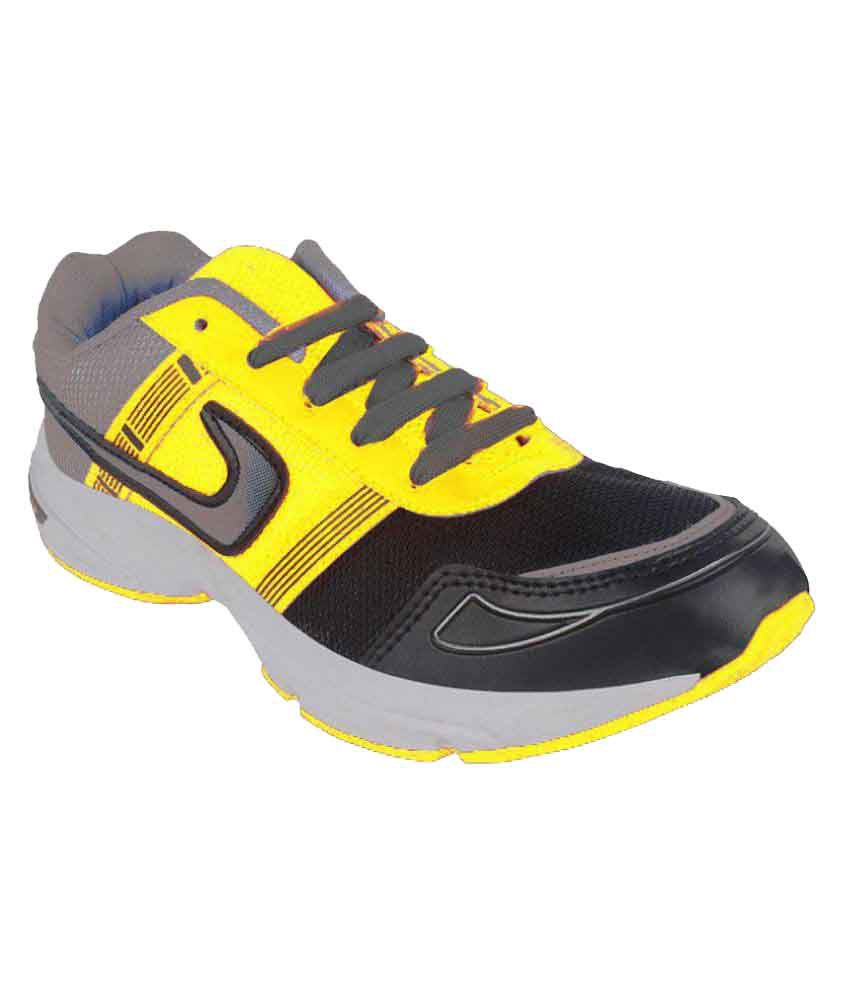 Fuoko CAPTAIN-IV Yellow Running Shoes