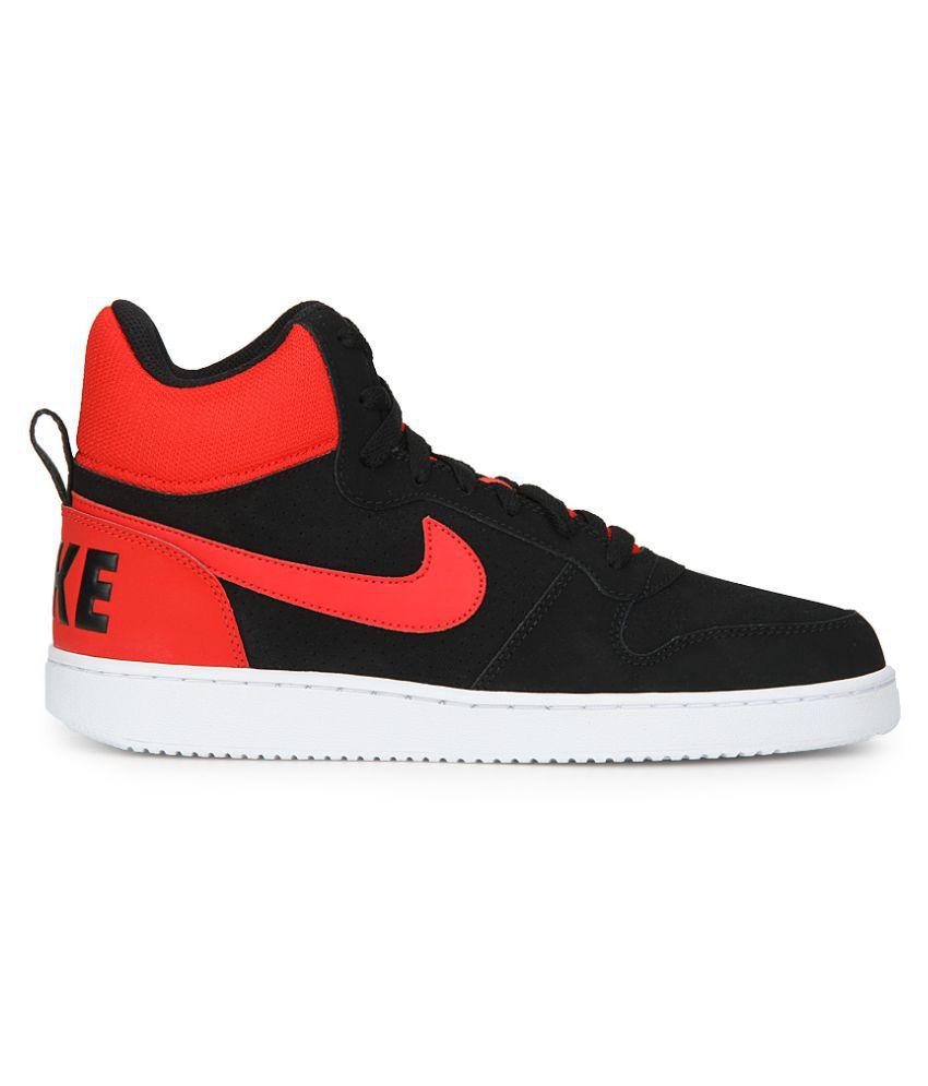 62628d77a1c29 Nike Court Borough Mid Black Casual Shoes - Buy Nike Court Borough ...