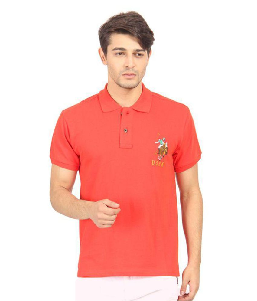 d2787b57 US Polo Club Red Slim Fit Polo T Shirt - Buy US Polo Club Red Slim Fit Polo  T Shirt Online at Low Price - Snapdeal.com