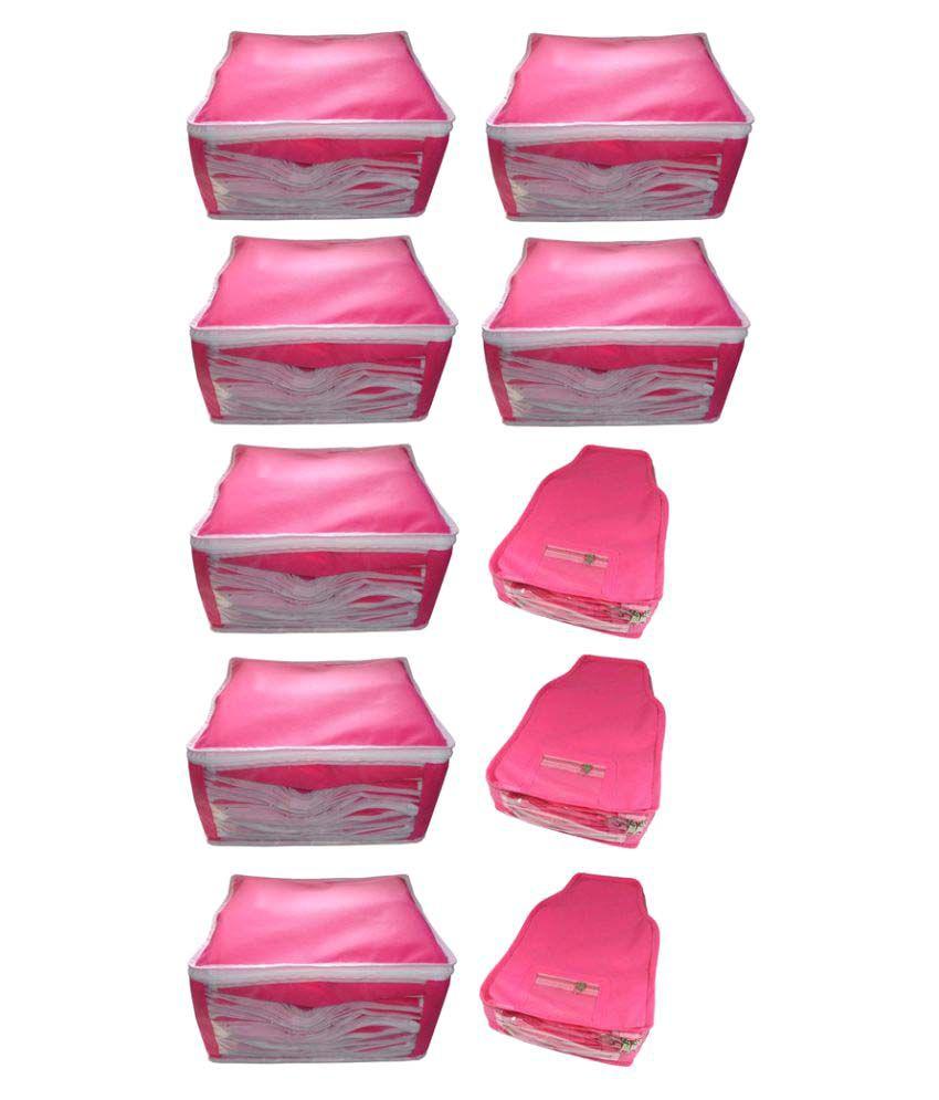 Abhinidi Pink Saree Covers - 10 Pcs