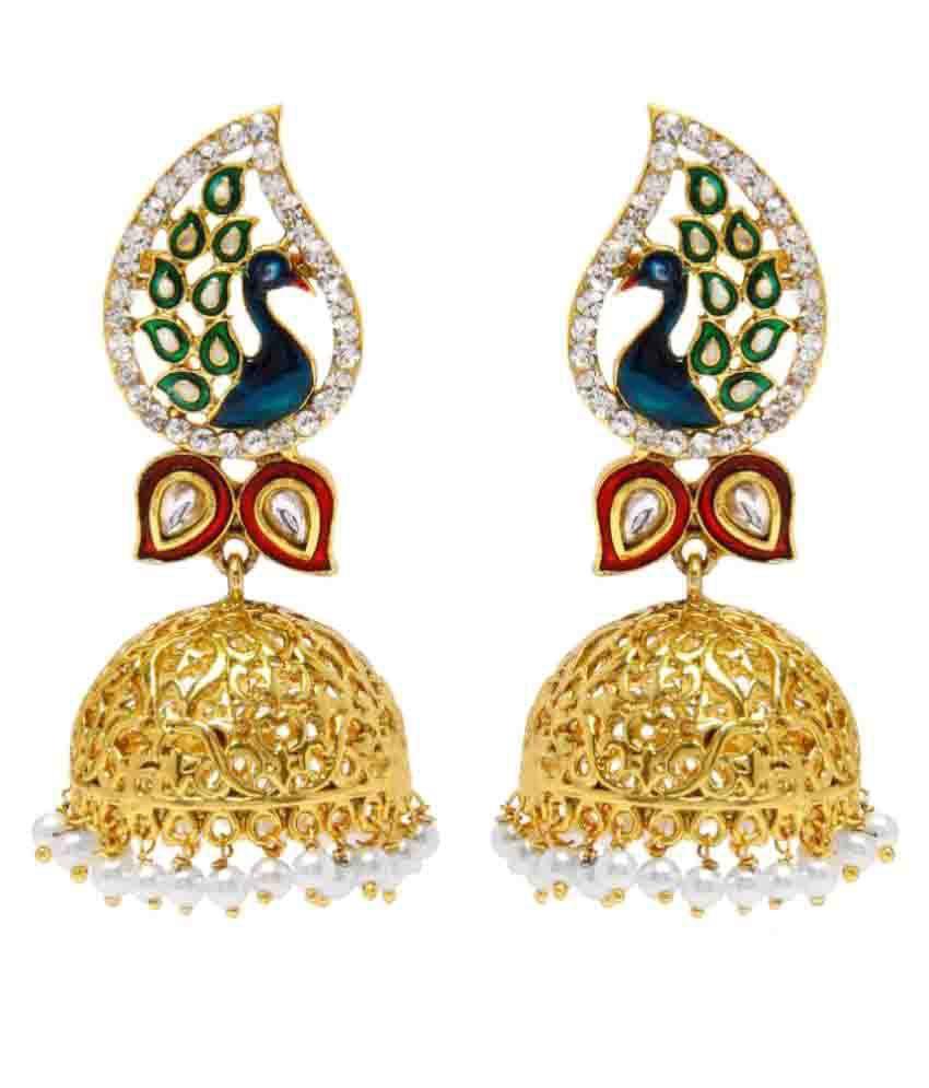 Jewels Guru Multi Color Alloy Jhumki