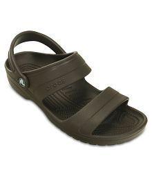 Crocs Brown Floater Sandal Roomy Fit