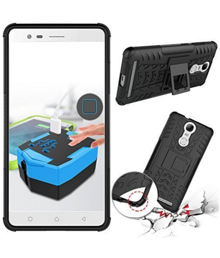 Lenovo K6 Power Flip Cover by Tidel - Black