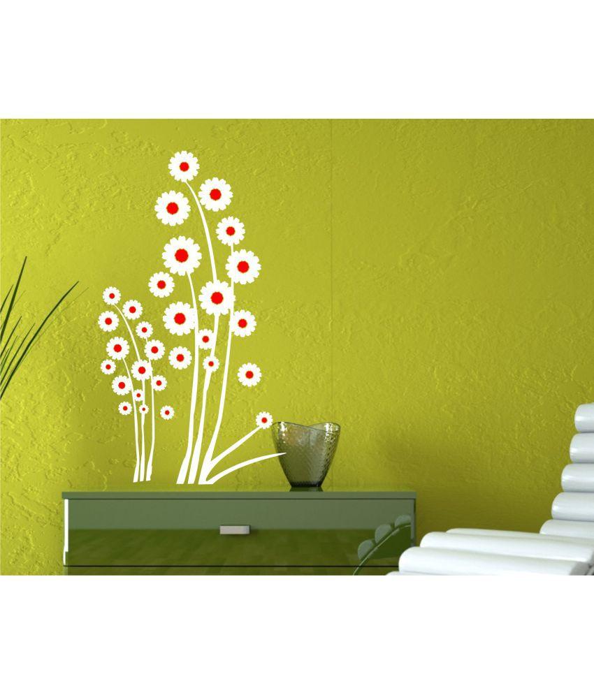 Flower Vinyl Wall Decals - Flowers Healthy