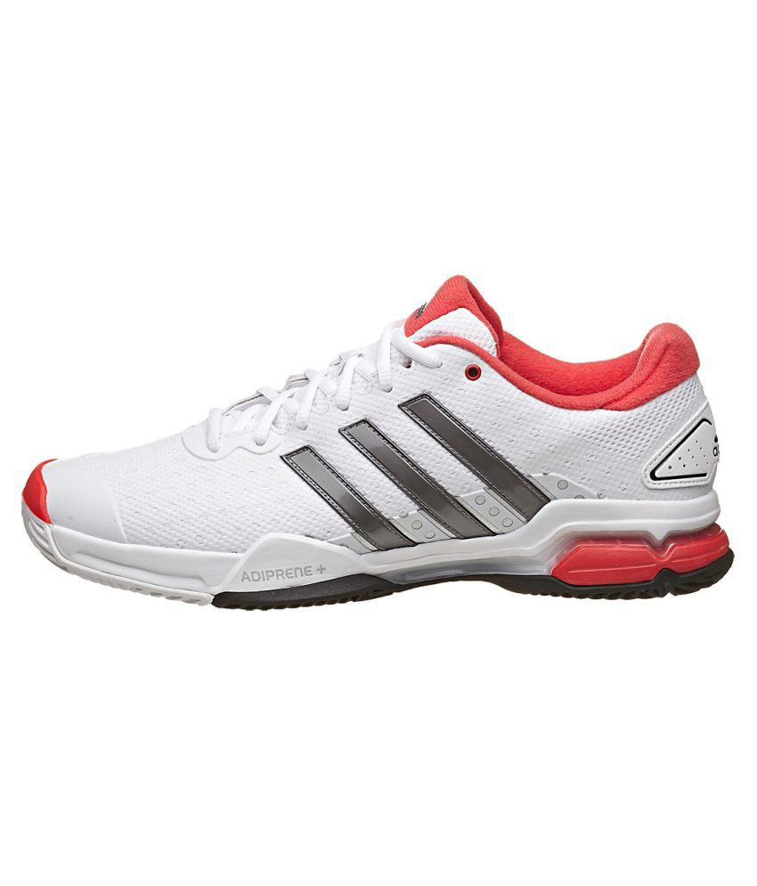 1cacf7c8cd6 Adidas Barricade Team 4 White Male Non-Marking Shoes - Buy Adidas ...