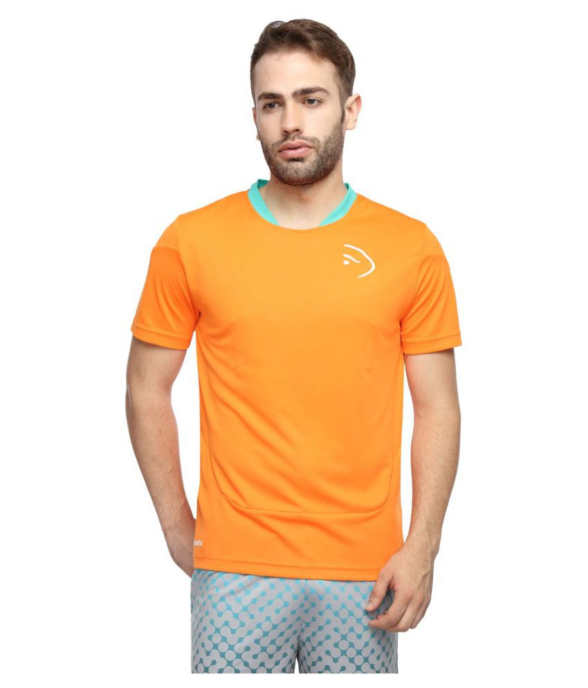 Piranha Sportswear Orange Polyester T-Shirt