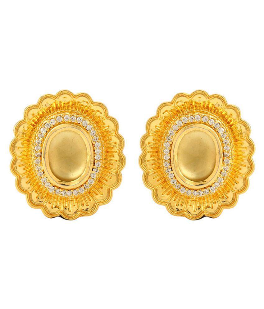 Voylla Golden Studs Earrings