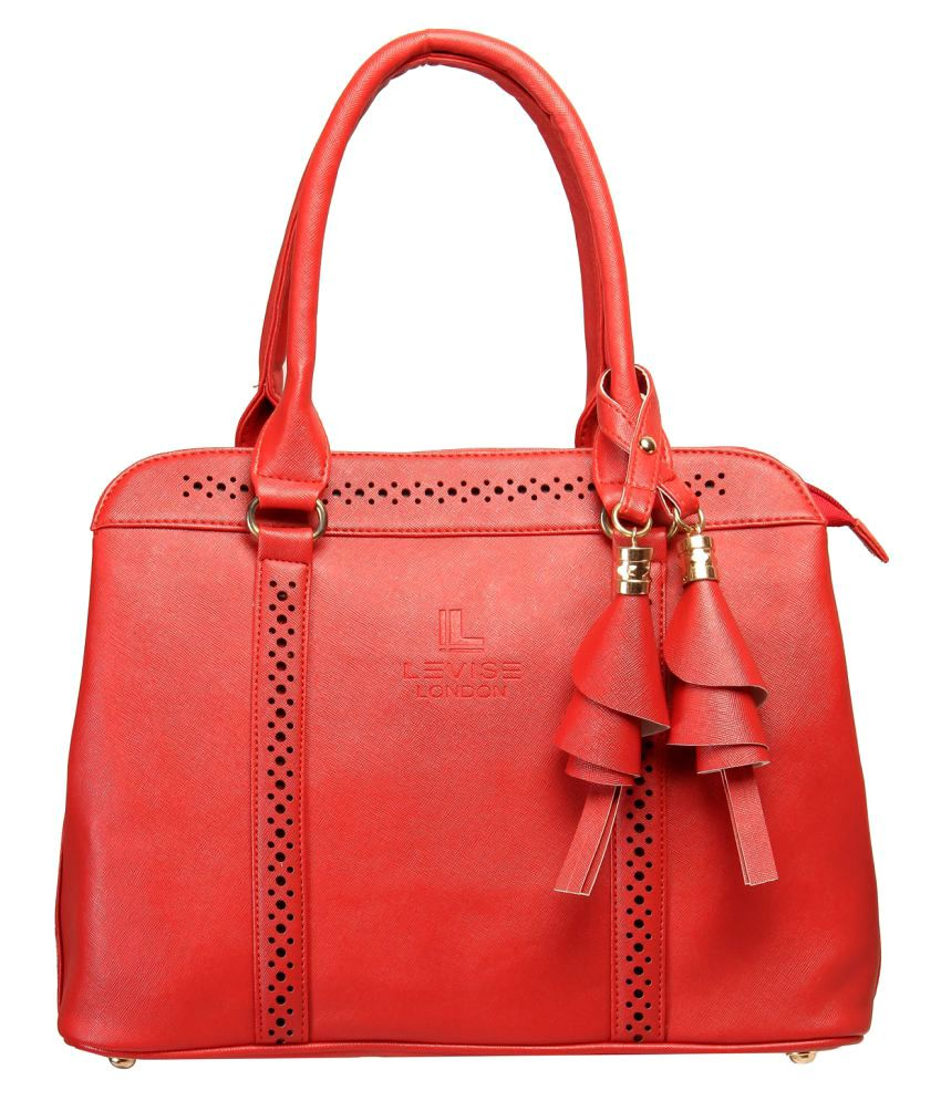 Levise London Red Faux Leather Handheld