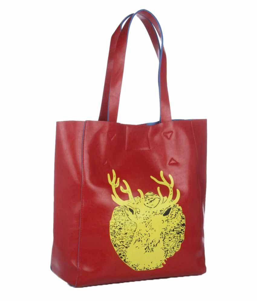 Senora Red P.U. Shoulder Bag