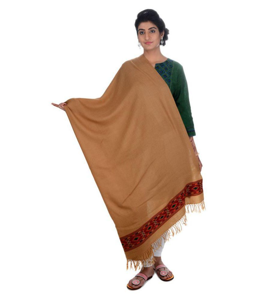 Tribes India Tan Woven Shawl