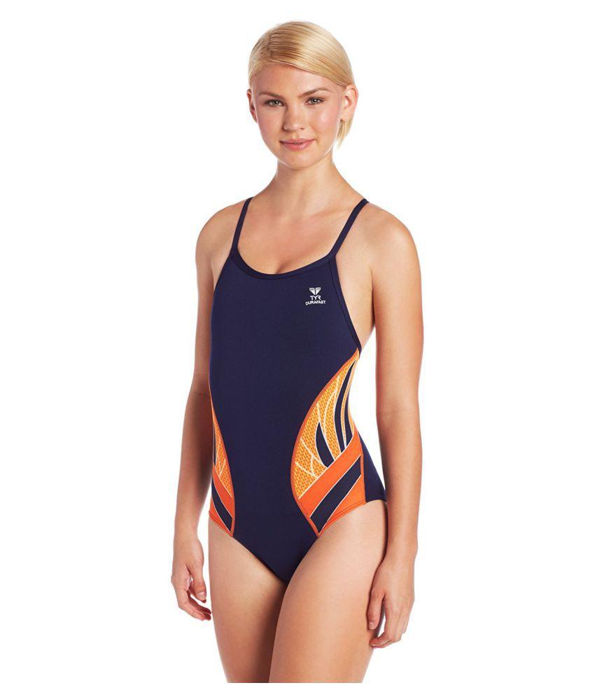 TYR Sport Navy Blue Women's Swimsuit/ Swimming Costume