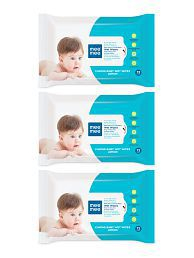 Mee Mee Caring Baby Wet Wipes with Lemon Fragrance-72 Pcs-Pk-3