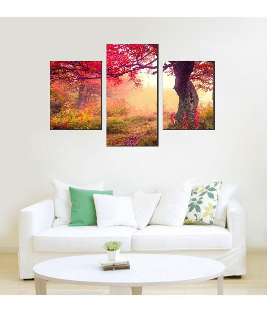 Decor Villa Paper Wall Poster Without Frame Set of 3