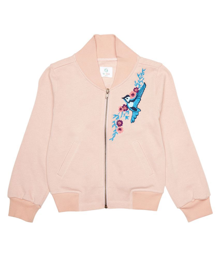 Orgaknit Peach Cotton Jacket for Girls