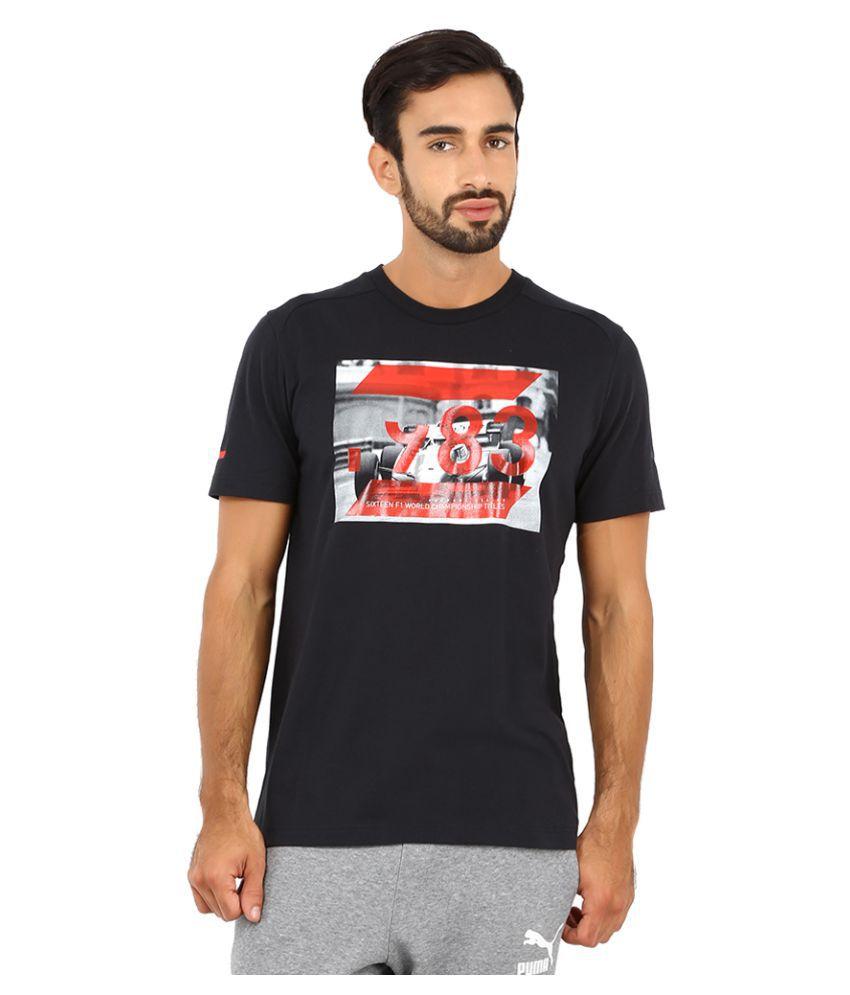 Puma Black Polyester T-Shirt