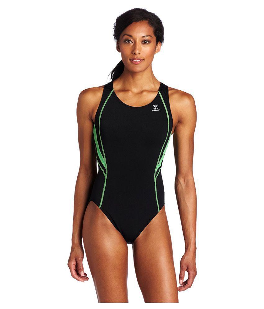 TYR Sport Womens Alliance Durafast Splice Maxback Swimsuit