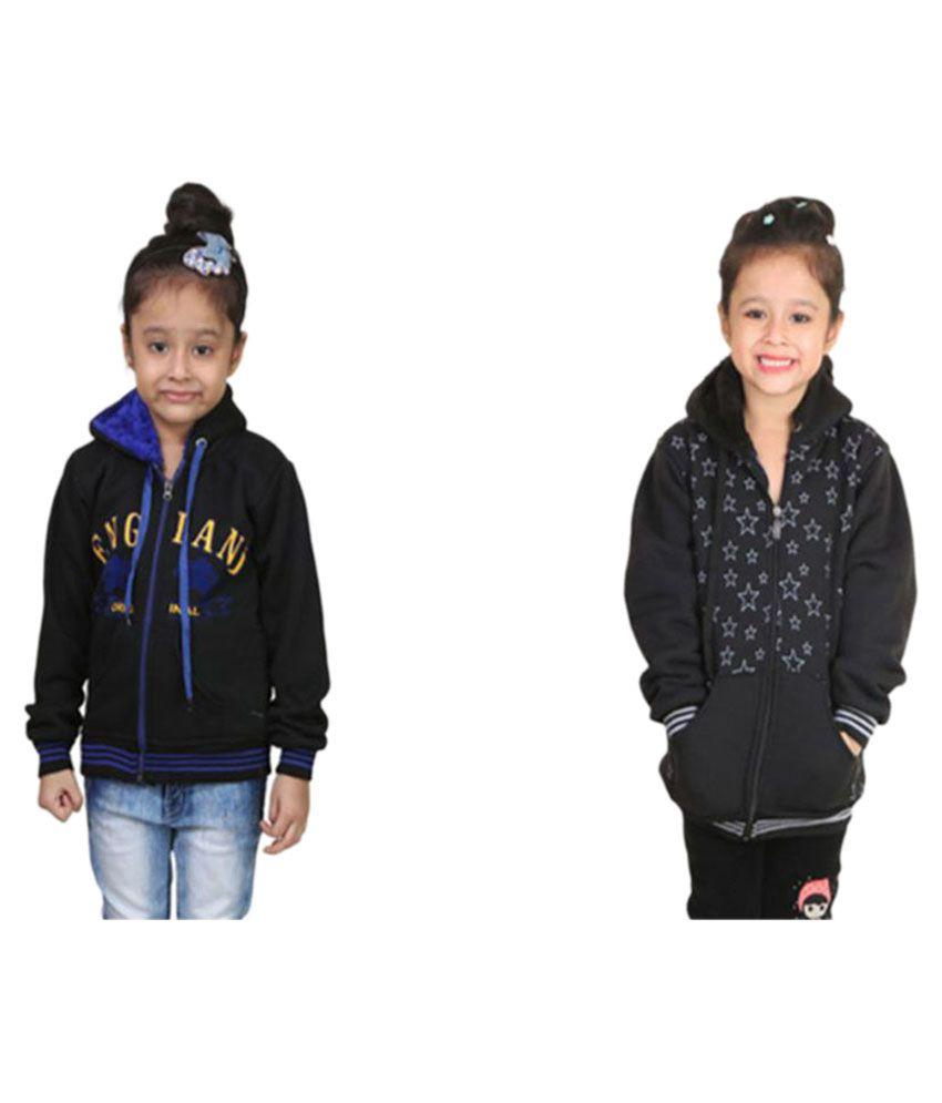 Crazeis Black Fleece Sweatshirts - Pack of 2