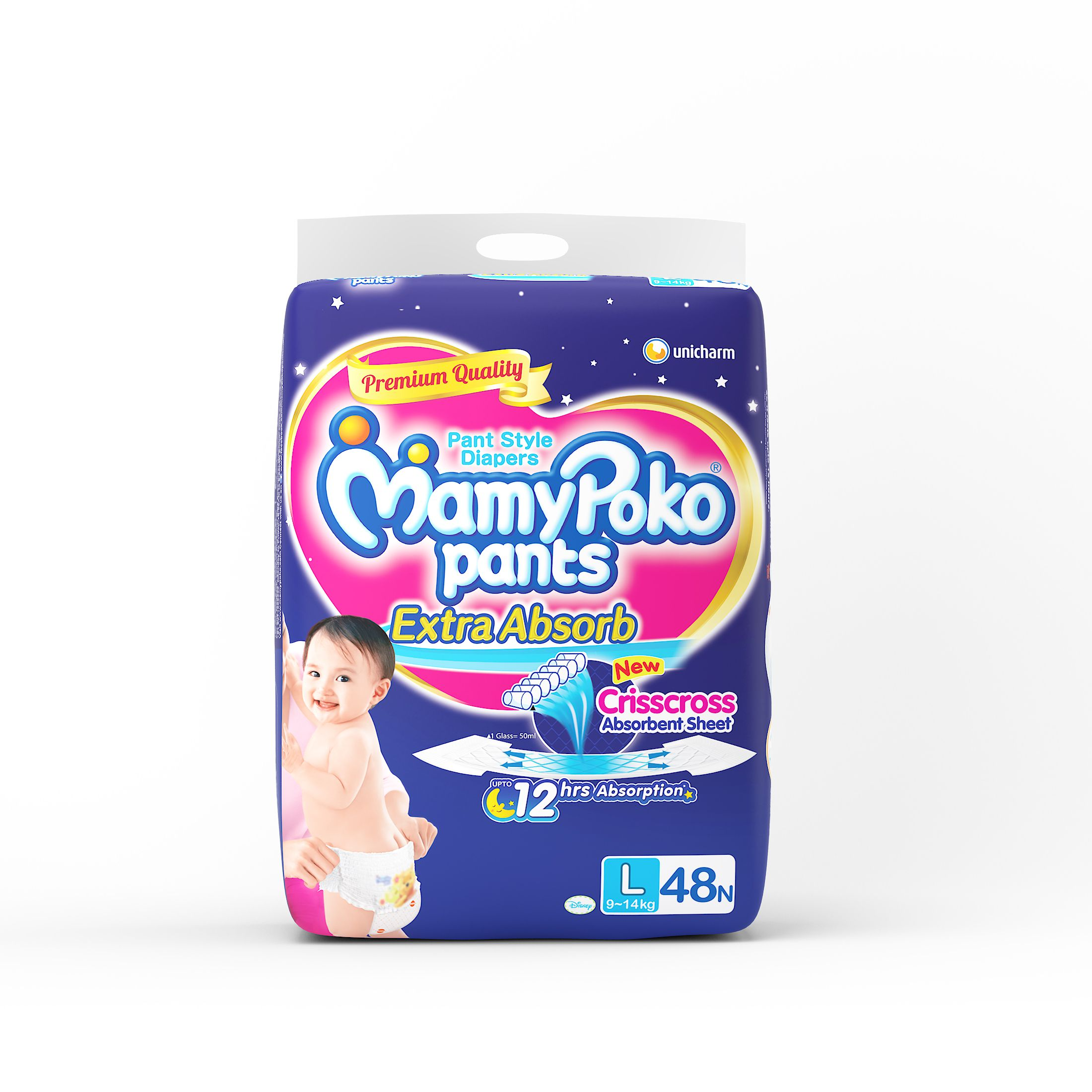 Mamy Poko Pants L (9-14 Kg) 48 Pc.