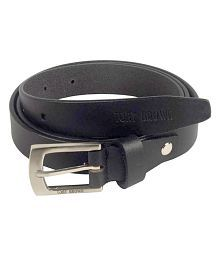 Tony Brown Black Leather Formal Belts