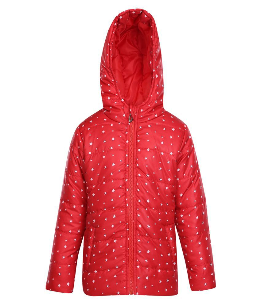 Life by Shoppers Stop Girls Star-print Hooded Jacket
