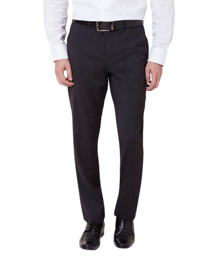 Ovation Black Slim Flat Trousers