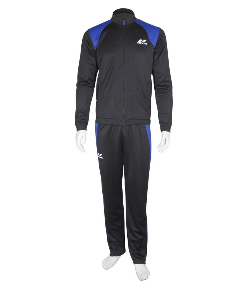 Nivia Black Polyester Tracksuit