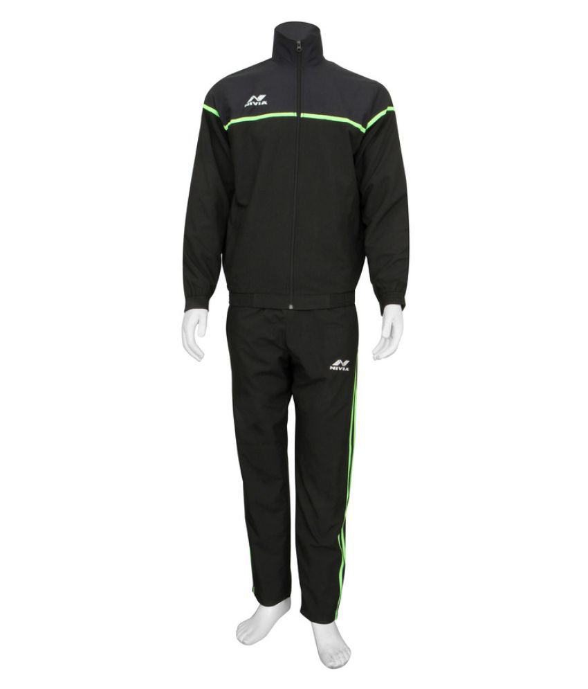 Nivia Black Track Suit-2421XL1