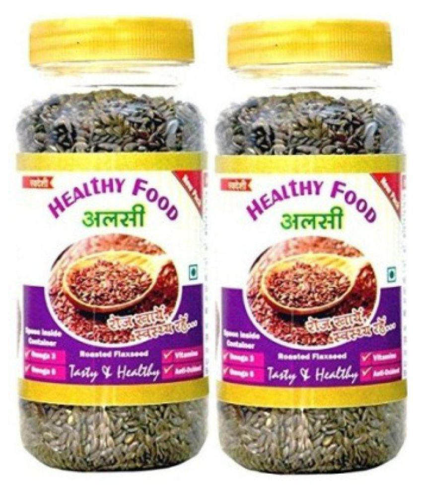 samarpit healthy food - 200gm each Flax Seeds (Alsi) 400 gm Pack of 2