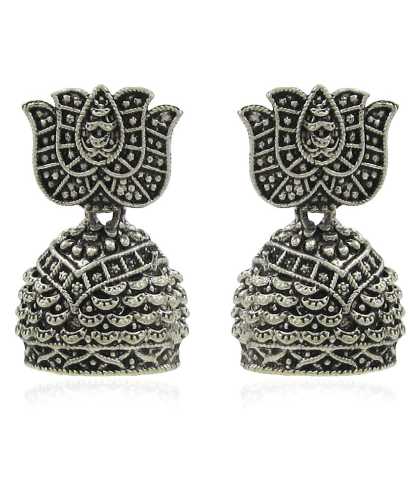 Jeweltech Silver Alloy Jhumkis