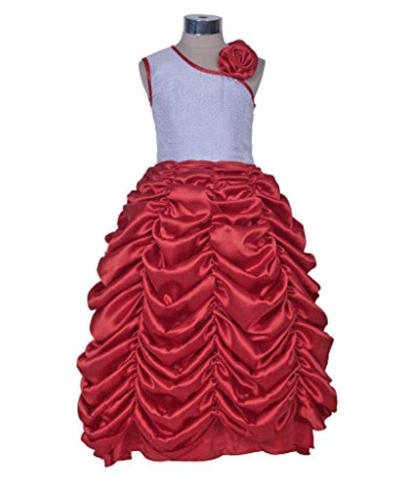 Sofyana Baby Girl\'s Sequined Maroon Ball Gown - Buy Sofyana Baby ...