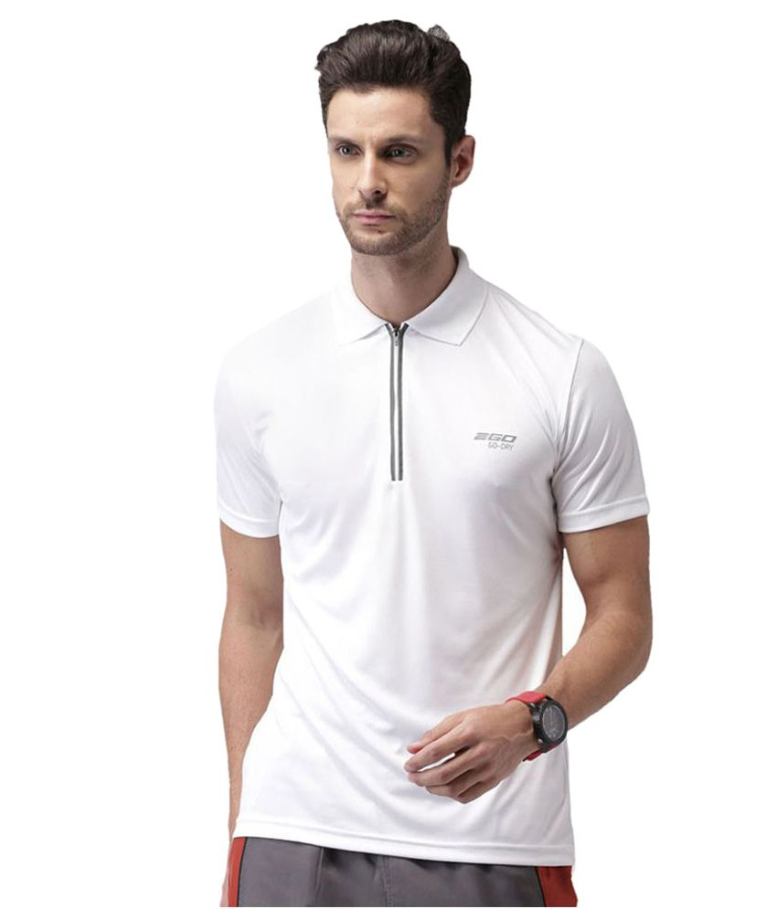 2GO White Polyester Polo T-Shirt Single Pack