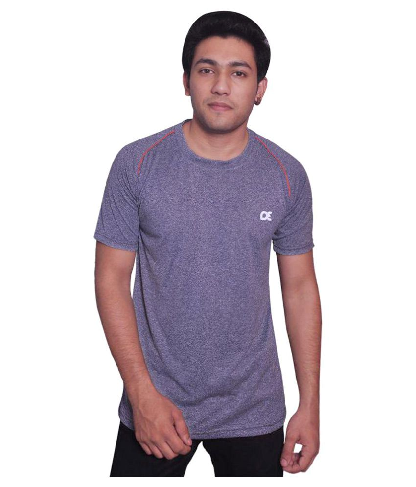 Dyed Colours Purple Polyester T-Shirt Single Pack