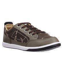 Unistar Unistar Canvas Shoes For Men Lifestyle Brown Casual Shoes