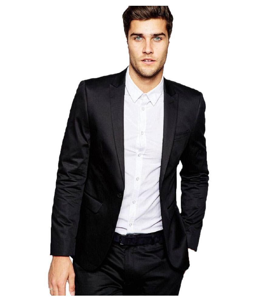 Vastra Innovation Black Solid Formal Tuxedo