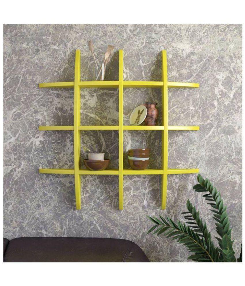 Onlineshoppee Floating Shelf/ Wall Shelf / Storage Shelf/ Decoration Shelf Yellow - Pack of 1