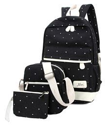 9e531b8e89 Quick View. Aeoss Black Canvas Backpack with Two Handbag School Bag