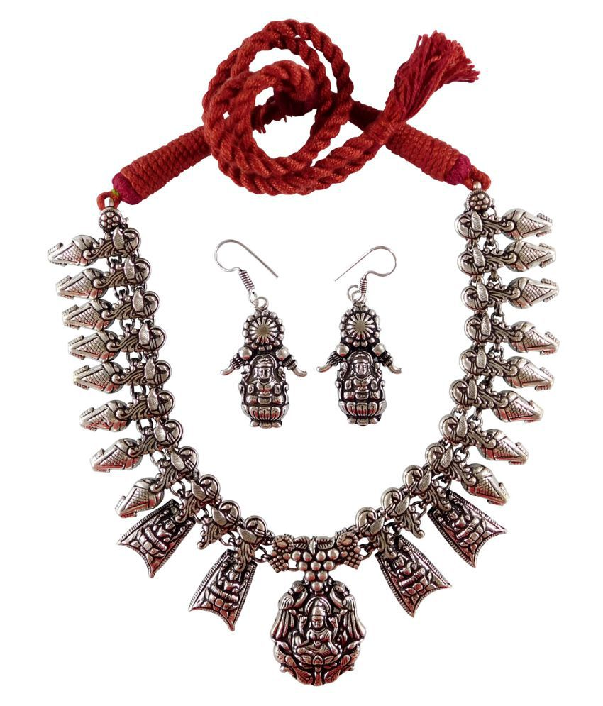 4c6334d5c Ballerinas Antique Oxidized Silver Plated Tribal Cotton Dori Jewellery  Necklace Earrings Set (BSAOJNES043) - Buy Ballerinas Antique Oxidized  Silver Plated ...