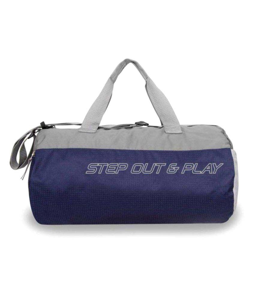 Nivia Navy Blue   Grey Medium Polyester Gym Bag-5175ng - Buy Nivia Navy Blue    Grey Medium Polyester Gym Bag-5175ng Online at Low Price - Snapdeal b690d9a257157