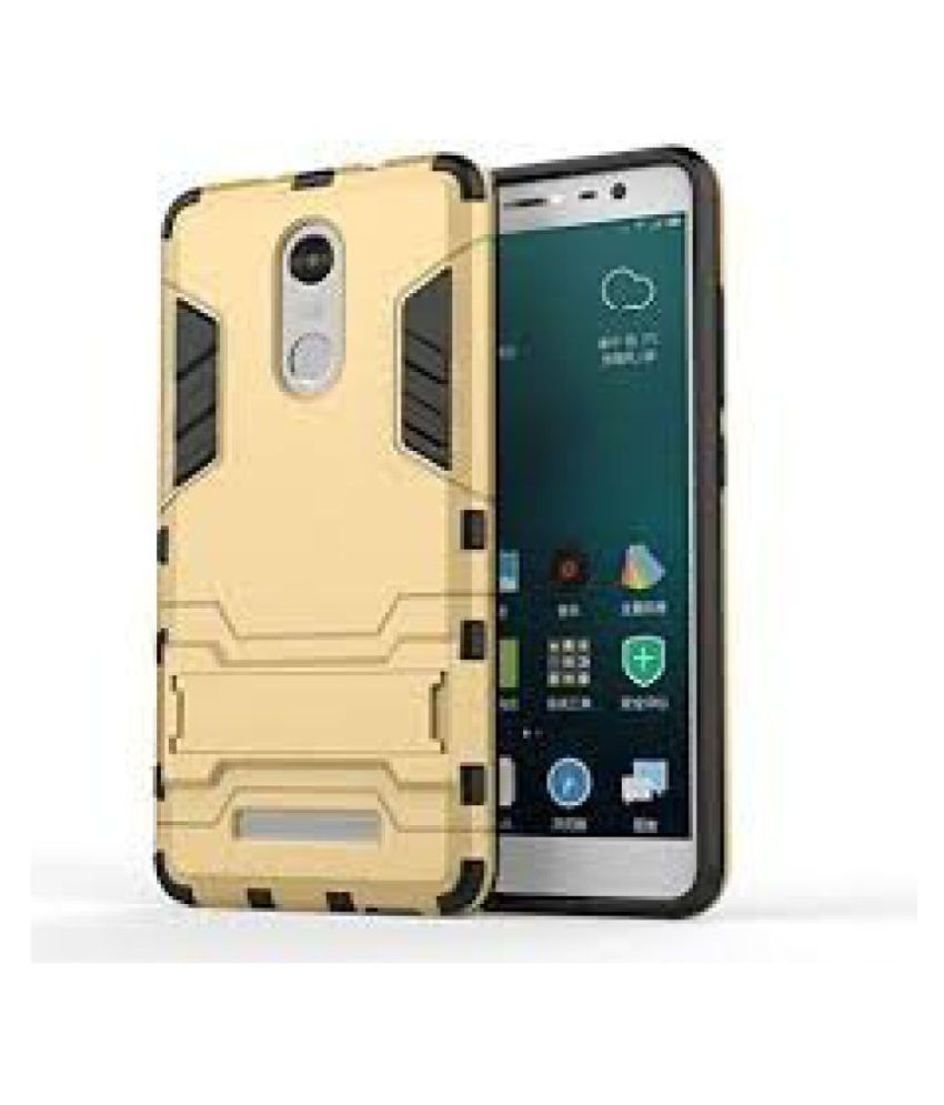 SDO™ Military Grade Version 2.0 With Kick Stand Hybrid Back Cover Case for Xiaomi RedMi Note 3 (Gold)